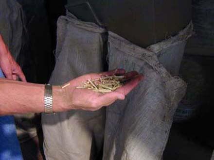 Nativa removes the yerba mate stems.